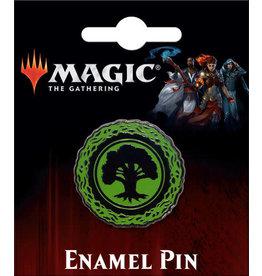 MAGIC THE GATHERING GREEN FOREST MANA ENAMEL PIN