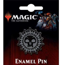 MAGIC THE GATHERING BLACK SWAMP MANA  ENAMEL PIN