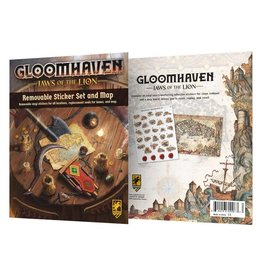CEPHALOFAIR GAMES GLOOMHAVEN JAWS OF THE LION REMOVABLE STICKER SET AND MAP