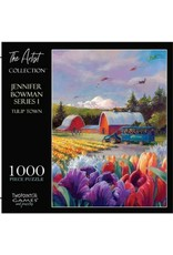 1000 PIECE THE ARTIST COLLECTION JENNIFER BOWMAN SERIES 1 TULIP TOWN PUZZLE
