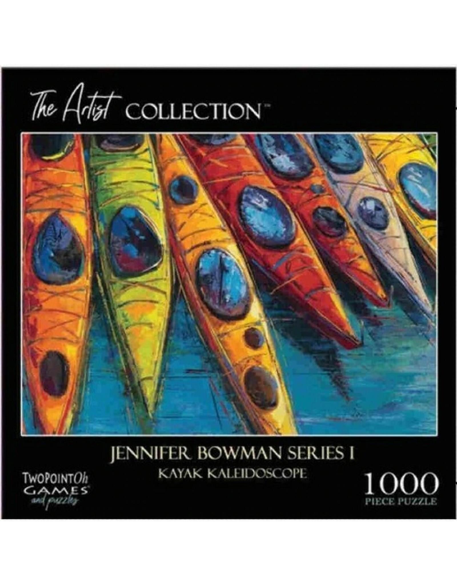 1000 PIECE THE ARTIST COLLECTION JENNIFER BOWMAN SERIES 1 KAYAK KALEIDOSCOPE PUZZLE