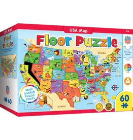 USA MAP 80 PIECE GIANT FLOOR PUZZLE