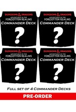 WIZARDS OF THE COAST MTG ADVENTURES IN THE FORGOTTEN REALMS COMMANDER DECKS (SET OF 4) PRE-ORDER