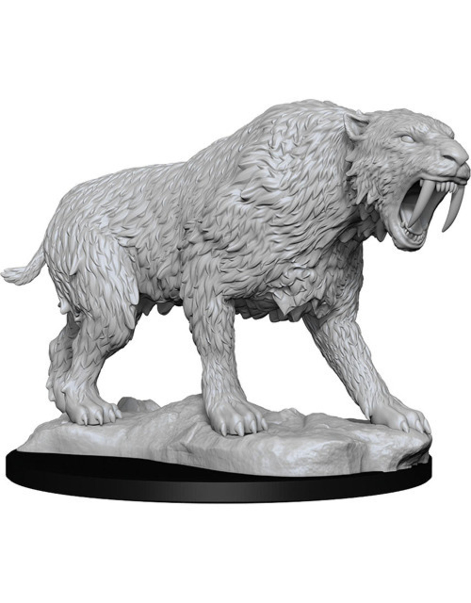 WIZKIDS DEEP CUTS UNPAINTED MINIS W14 SABER-TOOTHED TIGER