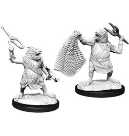 WIZKIDS D&D NOLZUR'S MARVELOUS UNPAINTED MINIS W14 KUO-TOA & KUO-TOA WHIP