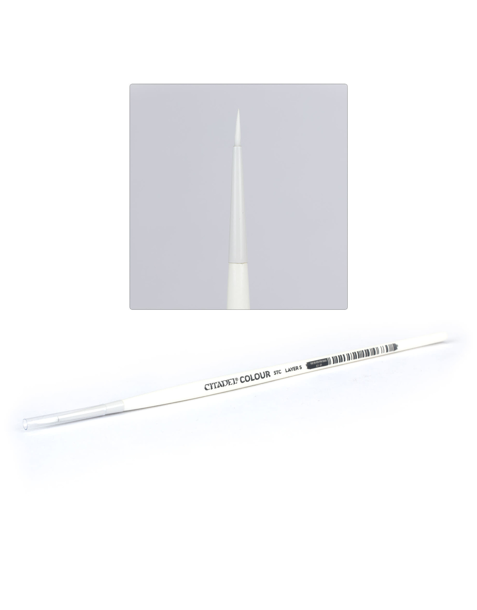 GAMES WORKSHOP CITADEL SYNTHETIC STC BRUSH - LAYER S