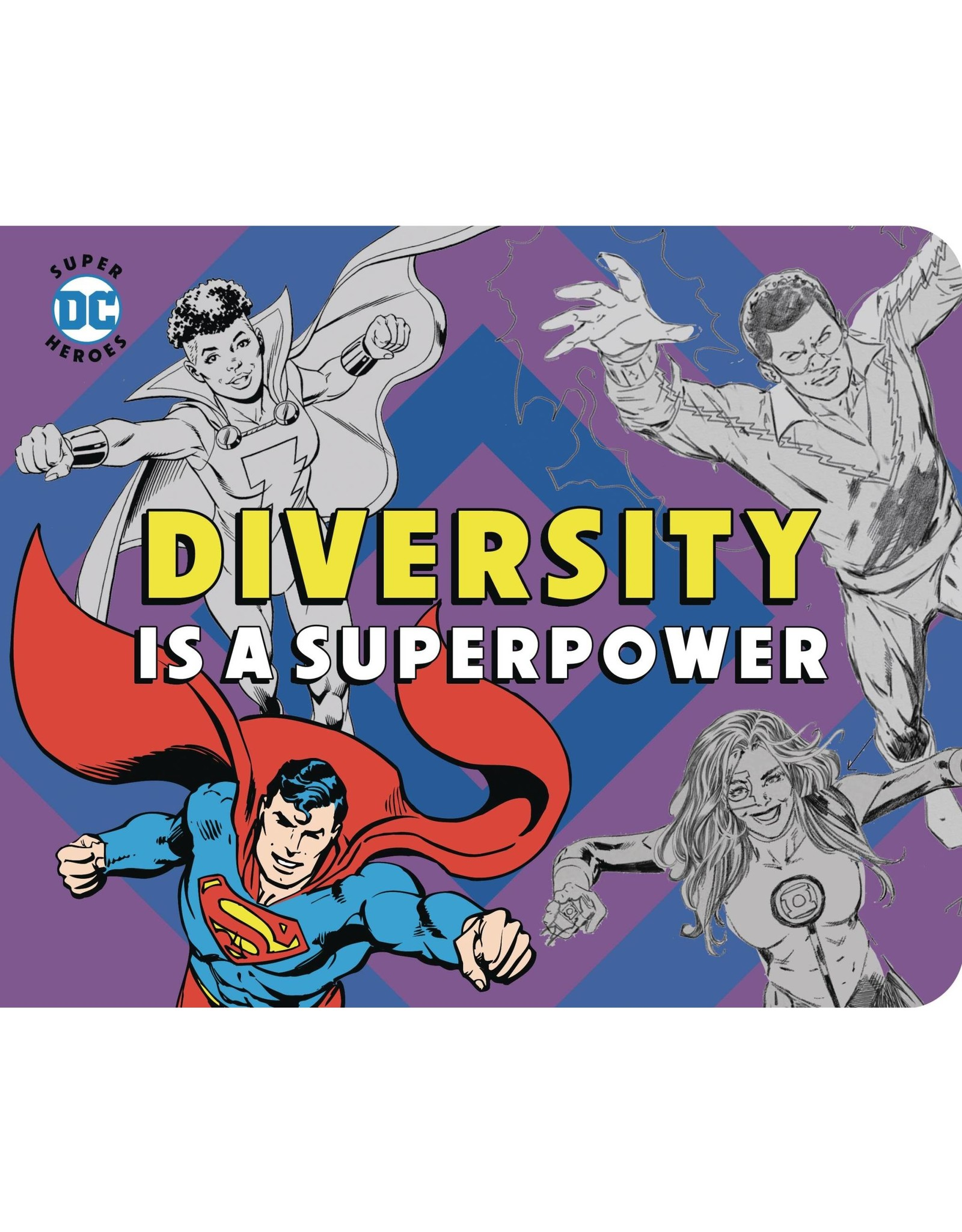 DOWNTOWN BOOKWORKS DC SUPER HEROES DIVERSITY IS SUPERPOWER BOARD BOOK