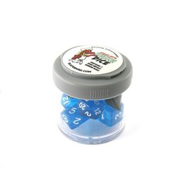 REAPER MINIATURES PIZZA DUNGEON DICE LUCKY CLEAR BLUE