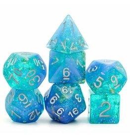 FOAM BRAIN GAMES FOAM BRAIN GAMES BLUE & GREEN SEABED TREASURE FILLED RPG DICE SET