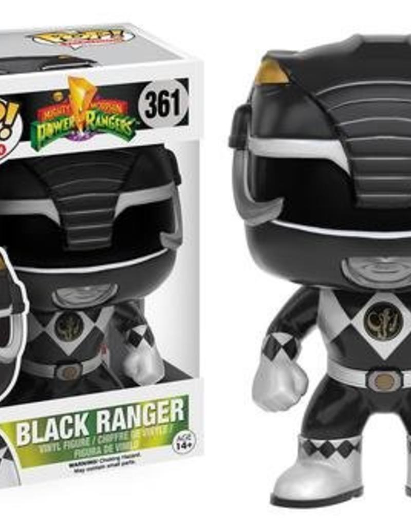 FUNKO POP TV POWER RANGERS BLACK RANGER VINYL FIG
