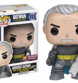 FUNKO POP DC HEROES DKR UNMASKED ARMORED BATMAN PX VINYL FIG
