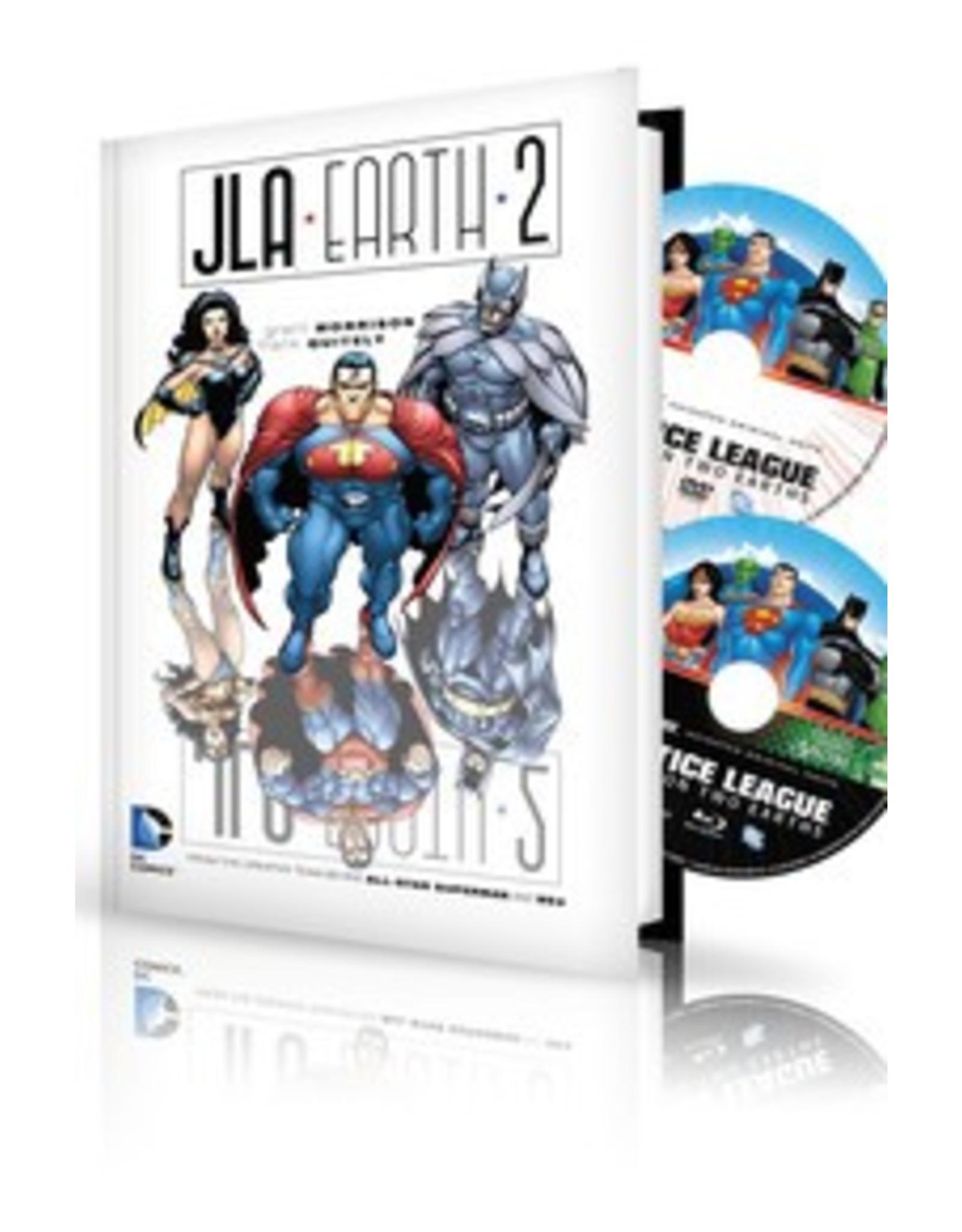 DC COMICS JLA EARTH 2 HC BOOK & DVD BLU RAY SET