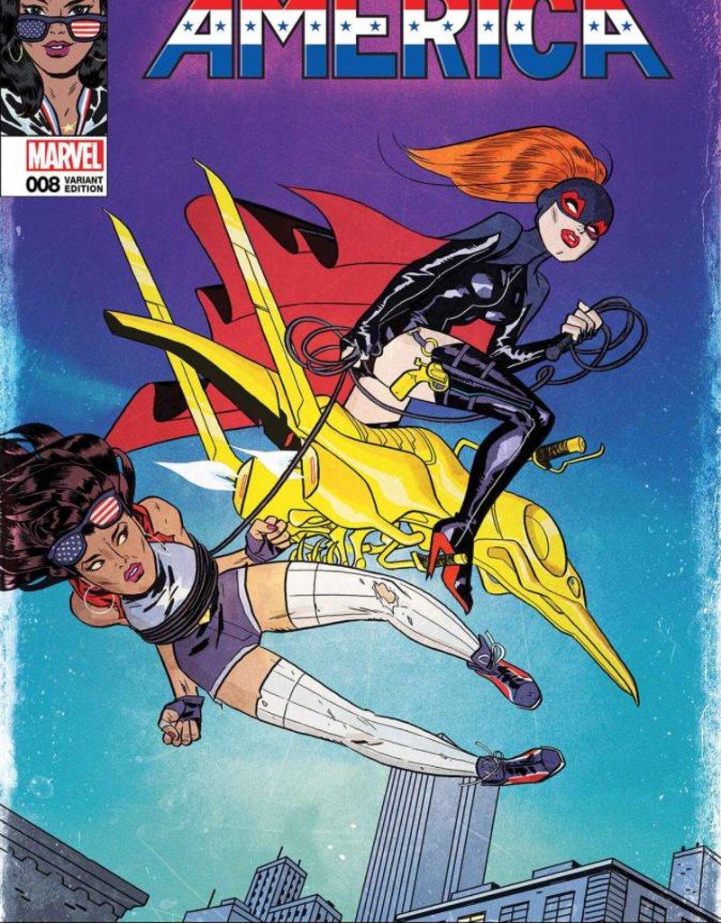 Diamond Comic Distributor AMERICA #8 CALDWELL LH VAR LEG