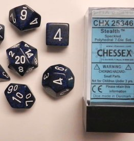 CHESSEX CHX 25346 7 PC POLY DICE SET SPECKLED STEALTH