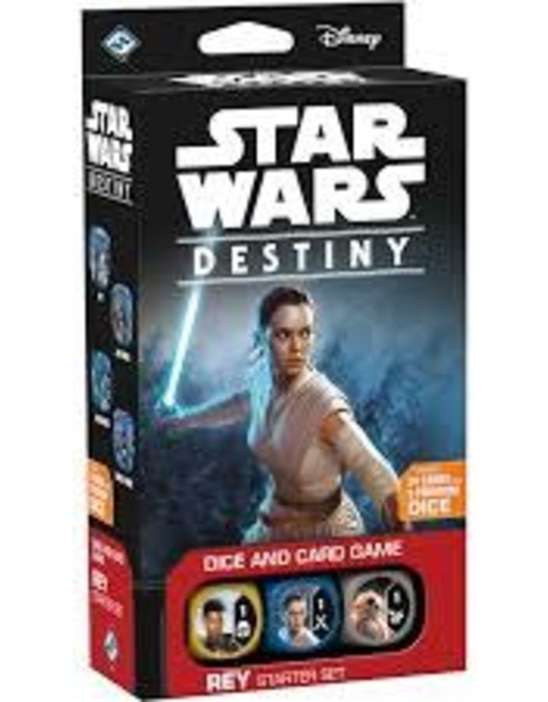 FANATASY FLIGHT GAMES STAR WARS DESTINY STARTER SET REY
