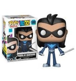 FUNKO POP TEEN TITANS GO ROBIN AS NIGHTWING VINYL FIG