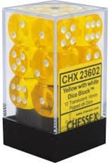 CHX 23602 YELLOW WITH WHITE 12 TRANSLUSCENT 16MM