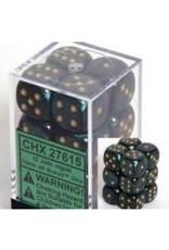 CHESSEX CHX 27615 16MM D6 DICE BLOCK SCARAB JADE W/GOLD
