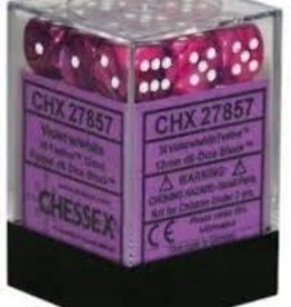 CHESSEX CHX 27657 16MM D6 DICE BLOCK FESTIVE VIOLET W/WHITE