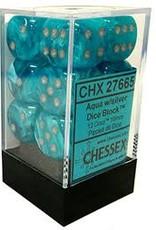 CHESSEX CHX 27665 16MM D6 CIRRUS AQUA/SILVER