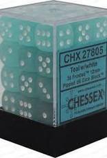 CHESSEX CHX 27805 12MM D6 DICE BLOCK TEAL W/ WHITE