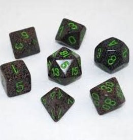 CHESSEX CHX 25310 7 PC POLY DICE SET SPECKLED EARTH