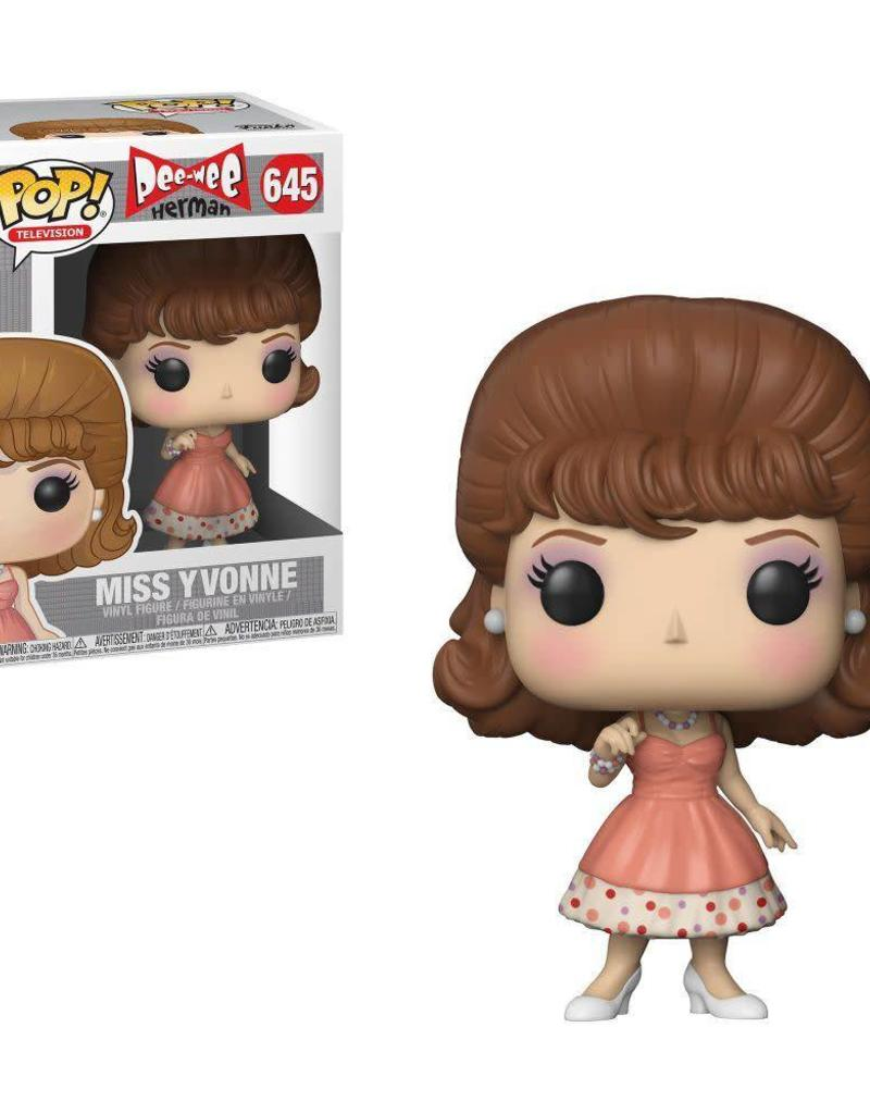 FUNKO POP PEE WEE HERMAN MISS YVONNE VINYL FIG