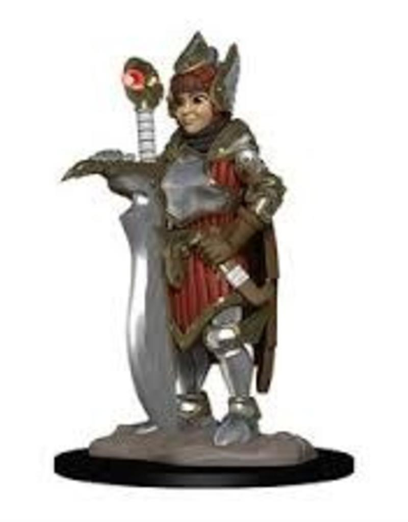 WIZKIDS D&D NOLZUR'S MARVELOUS WARDLINGS GIRL FIGHTER & HUNTING FALCON PAINTED MINI