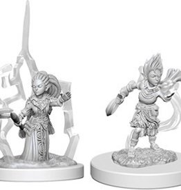 WIZKIDS DEEP CUTS UNPAINTED MINIS GNOME FEMALE DRUID
