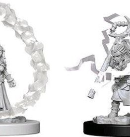 WIZKIDS DEEP CUTS UNPAINTED MINIS GNOME FEMALE SORCERER