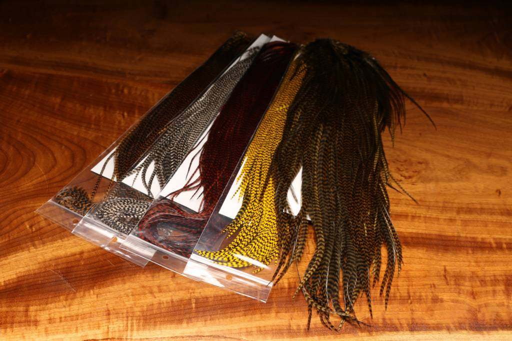 Hareline Dubbin Grizzly Saddle -