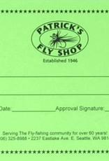 Patrick's Gift Certificate - $50.00