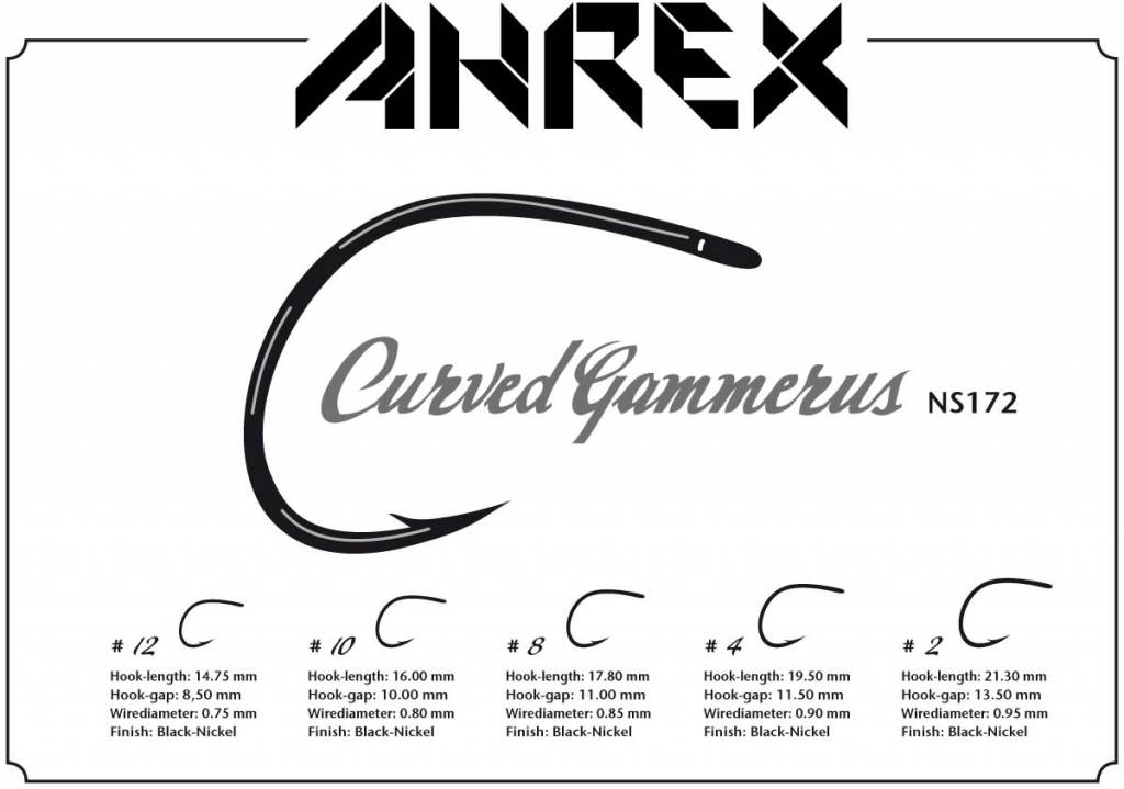 Ahrex Nordic Salt Curved Gammerus Hook -