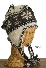 The Sweater Venture Snowflake Fleece Lined Flap Cap