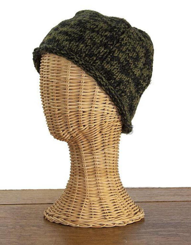 The Sweater Venture Snowfox Fleece Lined Roll Brim Cap
