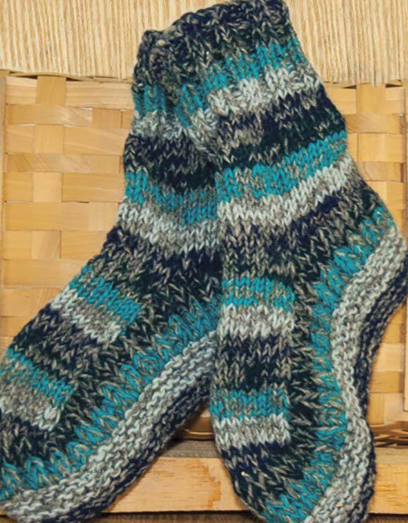 The Sweater Venture Snowfox Fleece Lined Long Slipper