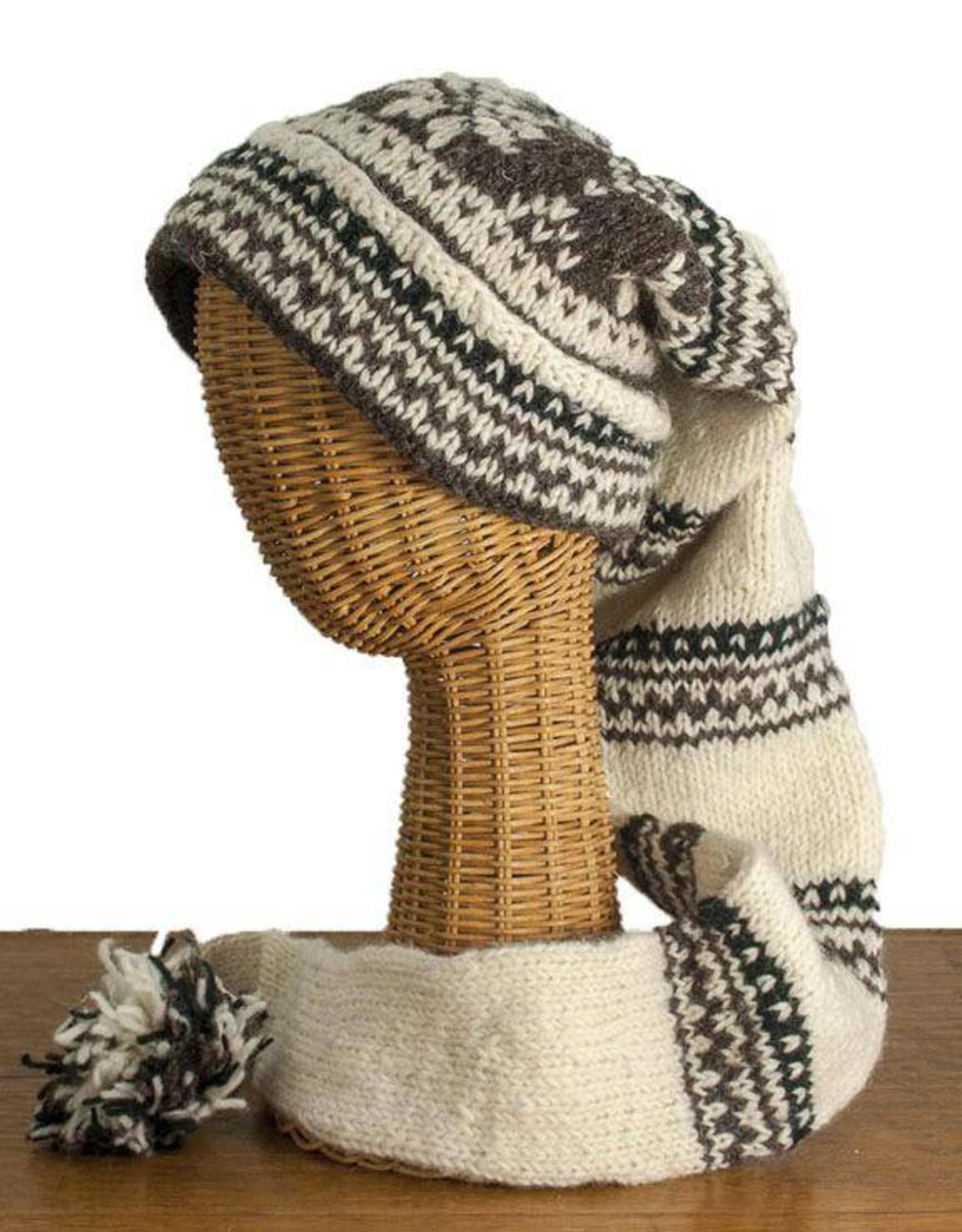 The Sweater Venture Snowfox Fleece Lined Stocking Cap