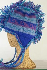 The Sweater Venture Snowfox Fleece Lined Fringe Hat