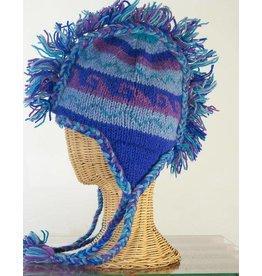 The Sweater Venture Snowfox Fleece Lined Fringe Hat