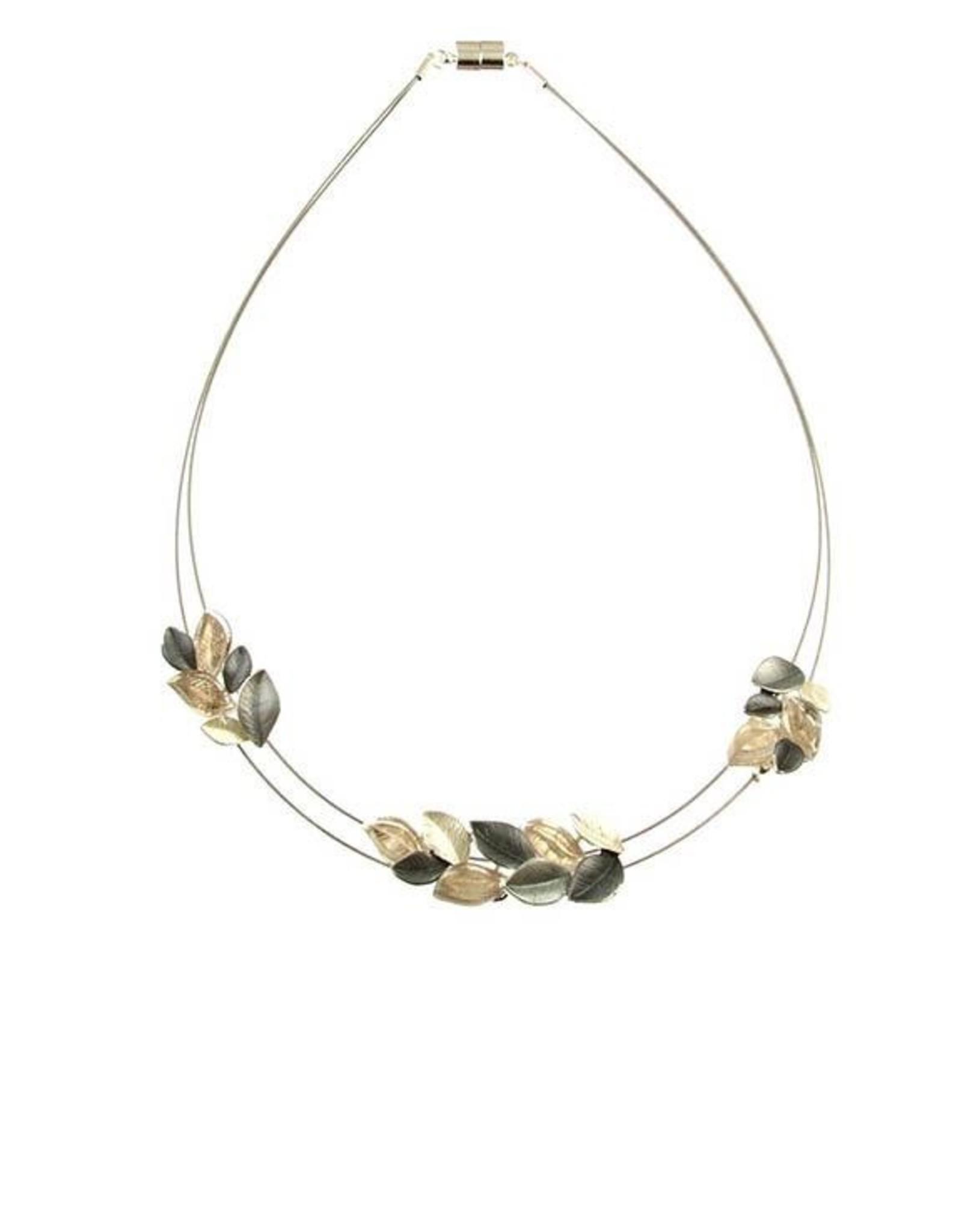 ORIGIN Matte Leaf Cluster Necklace