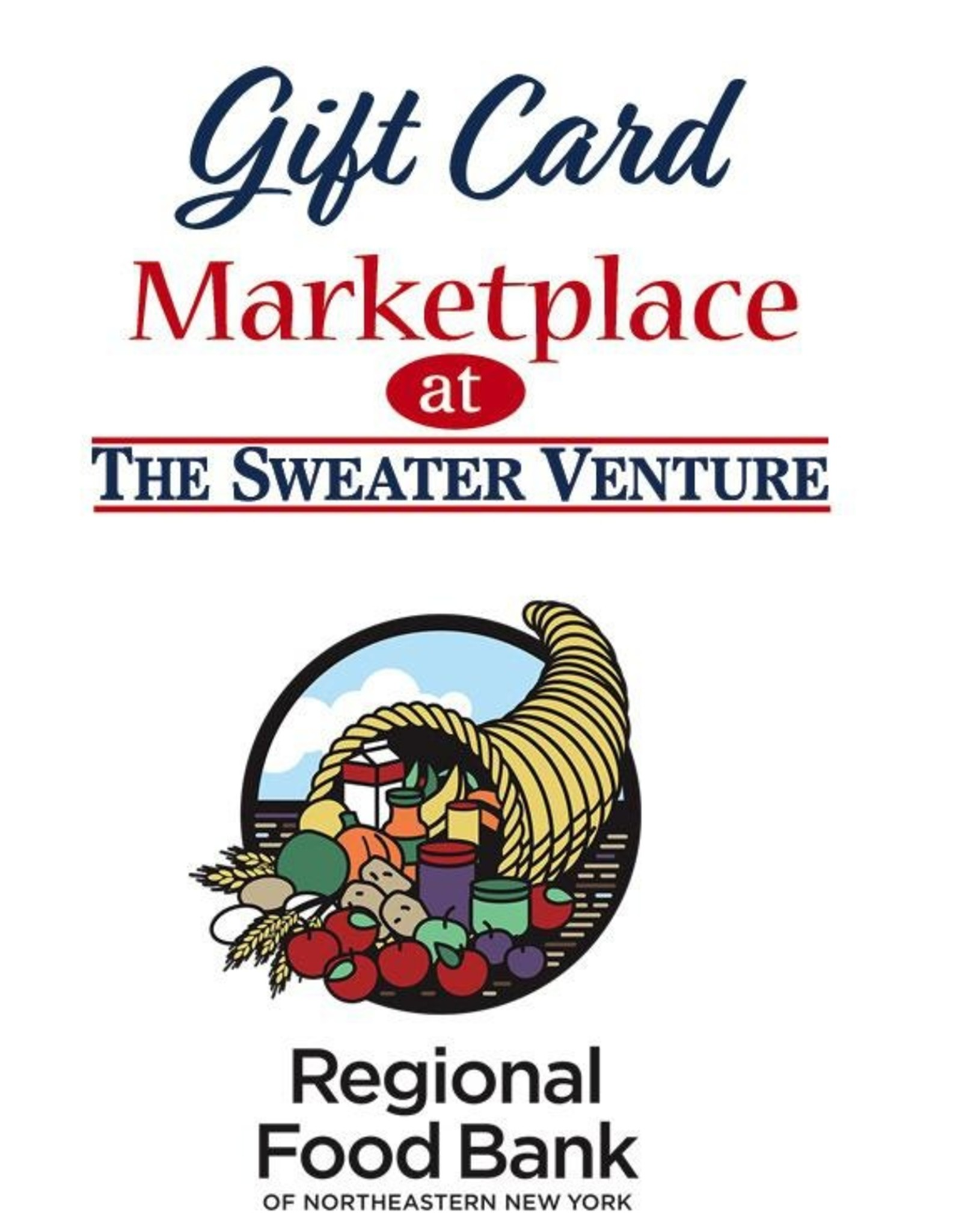 The Sweater Venture Gift Card w/Food Pantry Donation