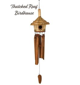 Woodstock Percussion Thatched Roof Birdhouse