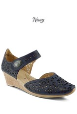 Spring Footwear Laser Cut Wedge