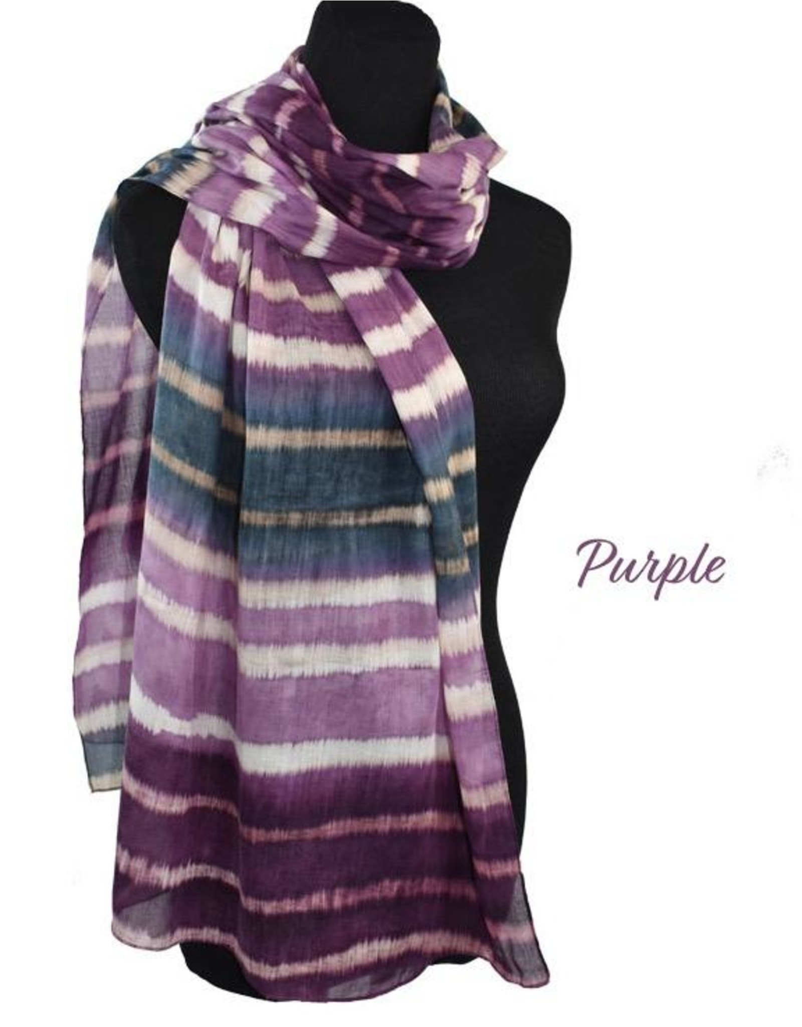 Dupatta !00% Cotton Handpainted Stripes Scarf