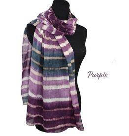 Dupatta !00% Cotton Handpainted Stripes Scarf