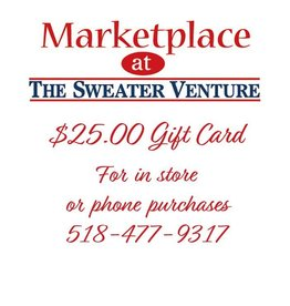 The Sweater Venture $25.00 Website gift card purchase