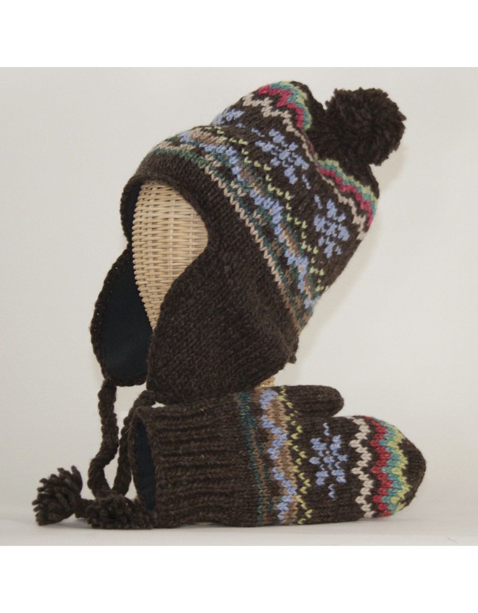 The Sweater Venture Flap Cap & Mitten Set