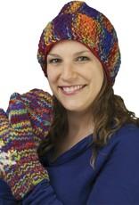 The Sweater Venture Snowfox Fleece Lined Popcorn Stitch Cap