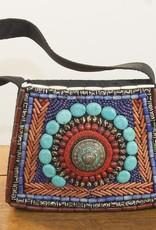 Handbag with Inlaid Stones
