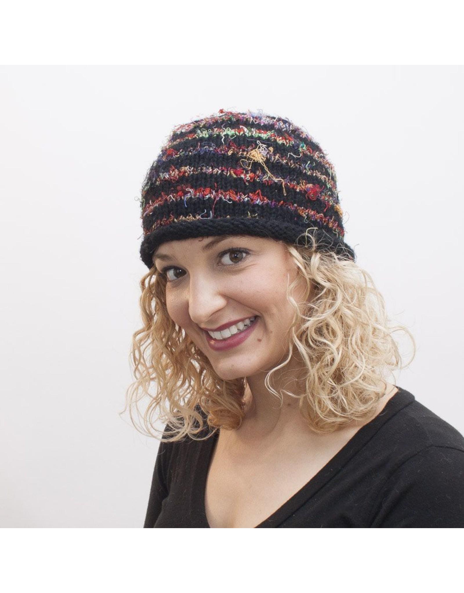 The Sweater Venture Roll Brim Cap in Wool & Silk
